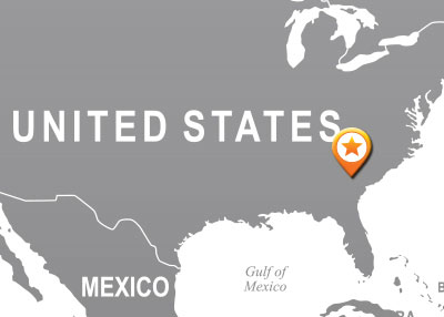 USA Headquarters map